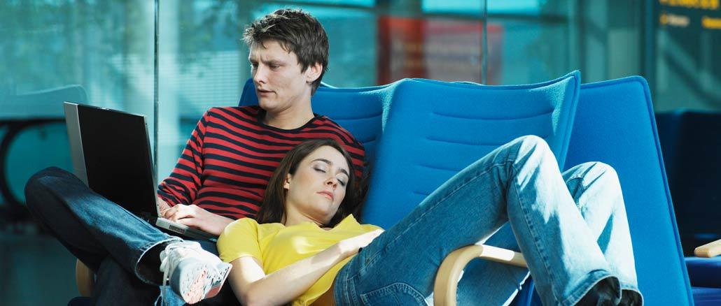 par som väntar på flygplats
